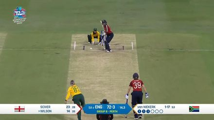 WT20WC: Eng v SA –   Fran Wilson becomes Dane van Niekerk's second victim