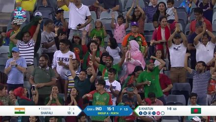 WT20WC: Ind v Ban - First wicket of the game