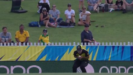 WT20WC: Aus v SL - Two wickets in three balls for Molly Strano