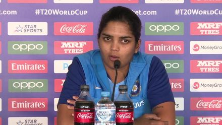 WT20WC: Ind v Ban - Veda Krishnamurthy faces the press