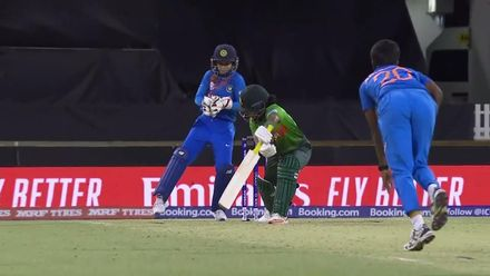 WT20WC: Ind v Ban - India's pressure pays off as Fargana departs
