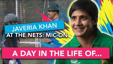 WT20WC: At the Nets – Javeria Khan mic'd up