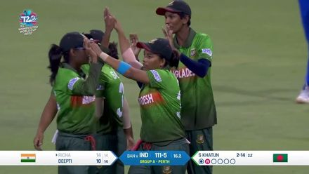 WT20WC: Ind v Ban - Bangladesh continue to take wickets