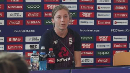 WT20WC: Eng v Tha - Heather Knight faces the media