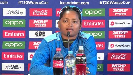 WT20WC: WI v Pak - Anisa Mohammed interacts with the media