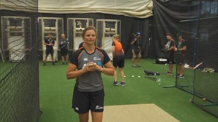 WT20WC: Left-arm bowl-off at the New Zealand nets!