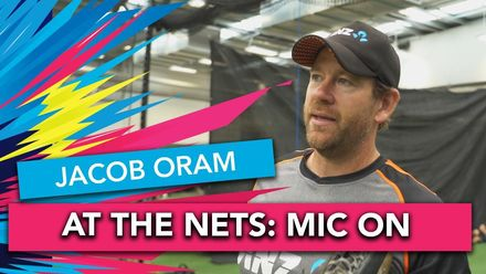 WT20WC: At the Nets – Jacob Oram takes Anna Peterson through fielding drills