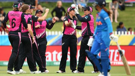 Taniya Bhatia of India walks off the field of play after being dismissed during the ICC Women's T20 Cricket World Cup match between India and New Zealand at Junction Oval on February 27, 2020 in Melbourne, Australia.