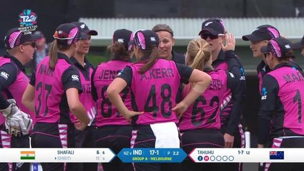 WT20WC: Ind v NZ – Tahuhu snares the big wicket of Mandhana