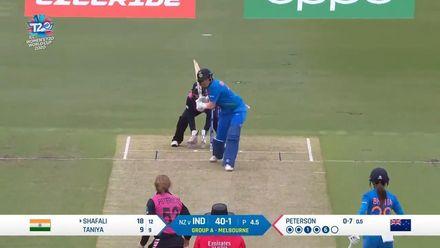 WT20WC: Ind v NZ – Shafali Verma smashes a big six