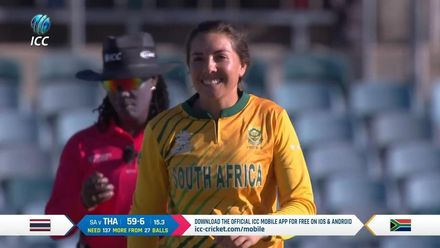 WT20WC: SA v Tha – Sune Luus returns 3/15