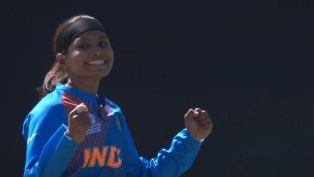 WT20WC: Ind v SL – Rajeshwari Gayakwad bowls Harshitha Madhavi