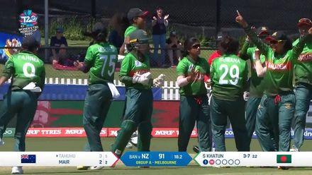 WT20WC: NZ v Ban – Salma Khatun picks up her third