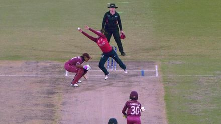 WT20WC: Eng v WI - Maiden wicket for Mady Villiers