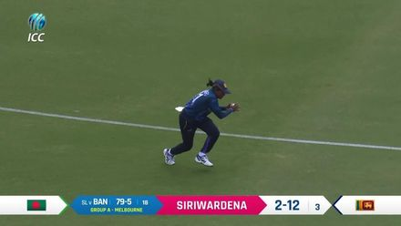 WT20WC: SL v Ban - Siriwardena bowling highlights