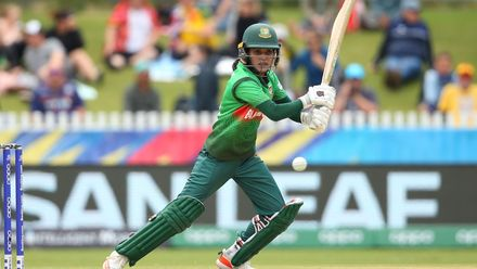 Nigar Sultana Joty of Bangladesh bats during the ICC Women's T20 Cricket World Cup match between Sri Lanka and Bangladesh at Junction Oval on March 02, 2020 in Melbourne, Australia.