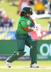Mst Ritu Moni of Bangladesh bats during the ICC Women's T20 Cricket World Cup match between Sri Lanka and Bangladesh at Junction Oval on March 02, 2020 in Melbourne, Australia.