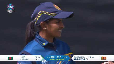 WT20WC: SL v Ban - Siriwardena takes her second wicket