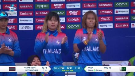WT20WC: Pak v Tha - Thailand batting highlights