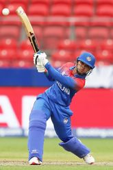 Nattaya Boochatham of Thailand bats during the ICC Women's T20 Cricket World Cup match between Pakistan and Thailand at GIANTS Stadium on March 03, 2020 in Sydney, Australia.