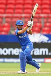 Natthakan Chantham of Thailand bats during the ICC Women's T20 Cricket World Cup match between Pakistan and Thailand at GIANTS Stadium on March 03, 2020 in Sydney, Australia.