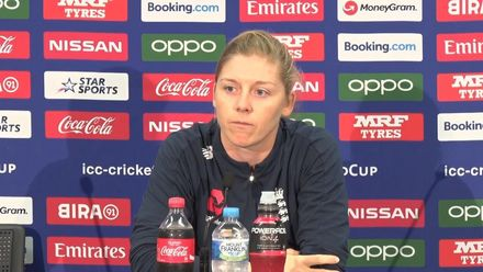 WT20WC: Ind v Eng - Heather Knight press conference