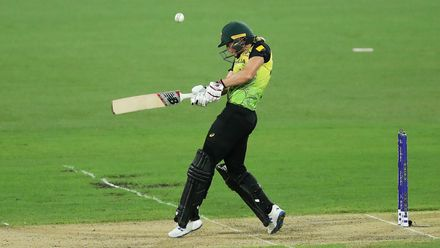 Meg Lanning of Australia bats during the ICC Women's T20 Cricket World Cup Semi Final match between Australia and South Africa at Sydney Cricket Ground on March 05, 2020 in Sydney, Australia.