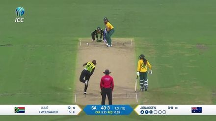WT20WC: SA v Aus SF2 – Wolvaardt hits big