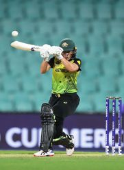 Alyssa Healy of Australia bats during the ICC Women's T20 Cricket World Cup Semi Final match between Australia and South Africa at Sydney Cricket Ground on March 05, 2020 in Sydney, Australia.