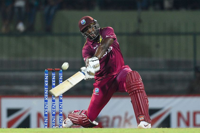 Andre Russell smashed 10 sixes during the two T20Is in Sri Lanka