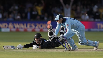 Runner Up - Tom Jenkins: England wicketkeeper Jos Buttler runs out New Zealand's Martin Guptill off the last ball of the Super Over to secure victory for England at the ICC Men's Cricket World Cup 2019 Final at Lord's