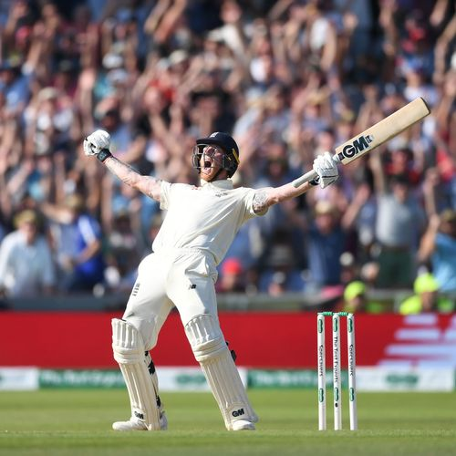 Winner - Gareth Copley: Ben Stokes of England celebrates hitting the winning runs to win the third Ashes Test Match between England and Australia at Headingley