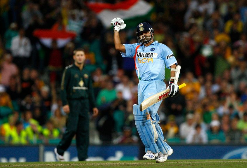 Tendulkar's 117* led India to a six-wicket victory against Australia