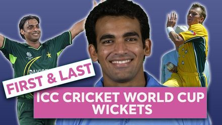ICC Cricket World Cup wickets: First & Last