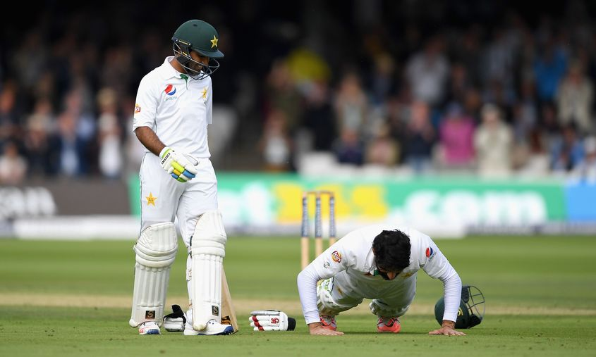 Misbah made the Lord's honours board in 2016 and became the oldest captain to hit a Test ton