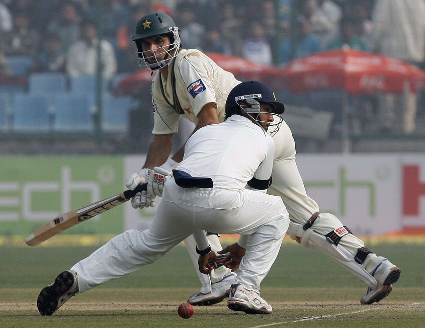 Misbah's 82 helped Pakistan cross the 200-mark against India in Delhi
