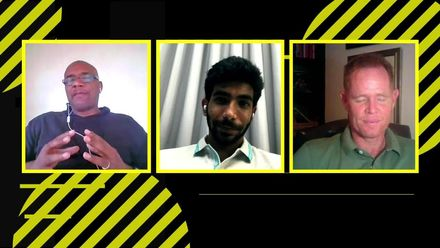 Jasprit Bumrah talks fast bowling, with Ian Bishop and Shaun Pollock