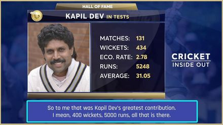 Harsha Bhogle on Kapil Dev's greatness | Cricket Inside Out