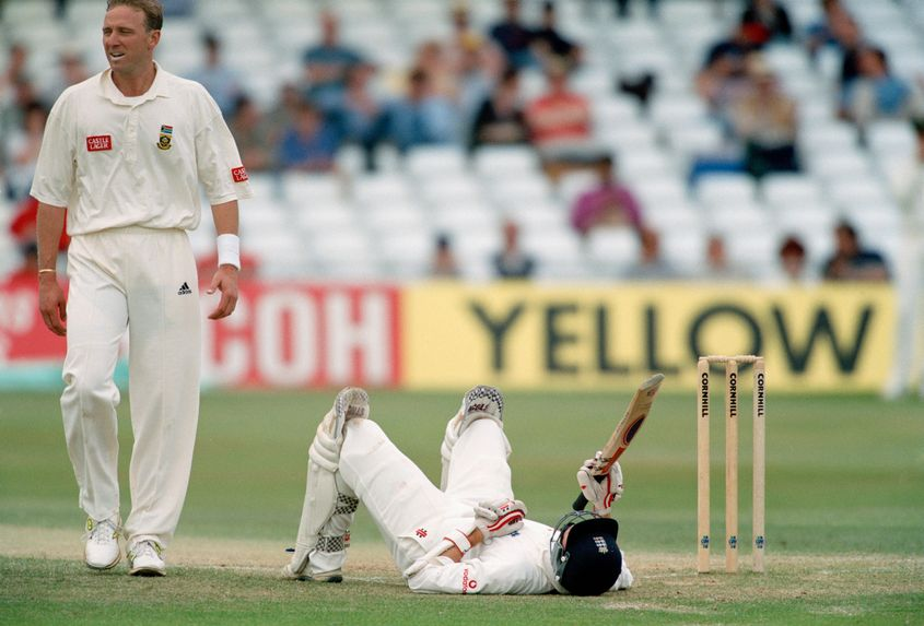 Allan Donald peppered Michael Atherton with bouncers