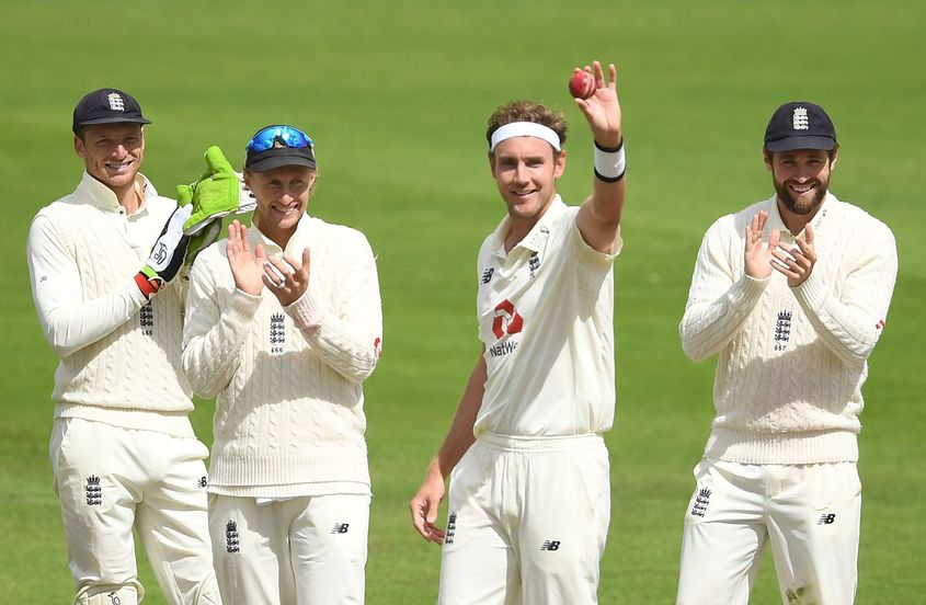 Broad celebrates his 500th Test wicket
