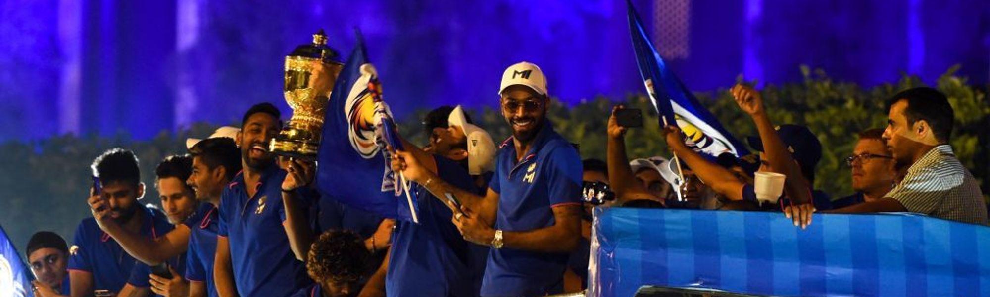 Mumbai Indians celebrate 2019 IPL victory