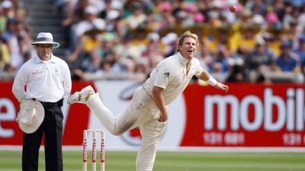 Shane Warne's tally of 96 Test wickets in 2005 is the record for most Test wickets in a single calendar year