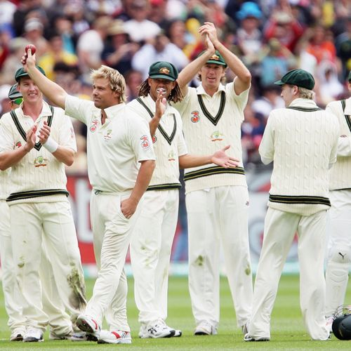 Shane Warne was the first bowler to reach 600 and 700 Test wickets
