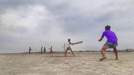 Playing along the Brahmaputra river. Location: Kurigram, Bangladesh. Photo credit: Pronay Krishna Ray