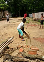 No bat, no stumps? No problem! Location: Fatikchhari, Bangladesh. Photo credit: Rashed Al Islam