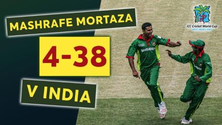 Mashrafe Mortaza stuns India in the 2007 CWC | Bowlers Month