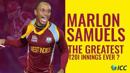 Greatest T20I innings ever? | Marlon Samuels | Men's T20WC 12