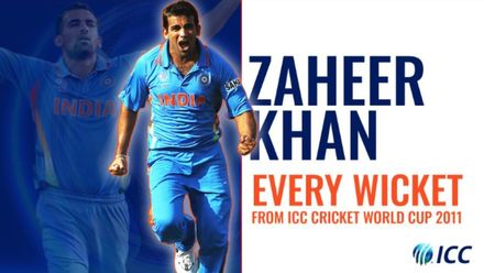 Every Zaheer Khan wicket from the 2011 CWC | Bowlers Month