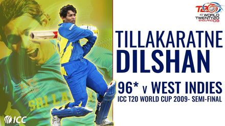 Dilshan smashes 96* off 57 against West Indies | T20WC 2009 semi-final
