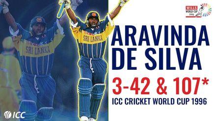 He bowled, he batted, he conquered! | Aravinda de Silva | 1996 CWC final
